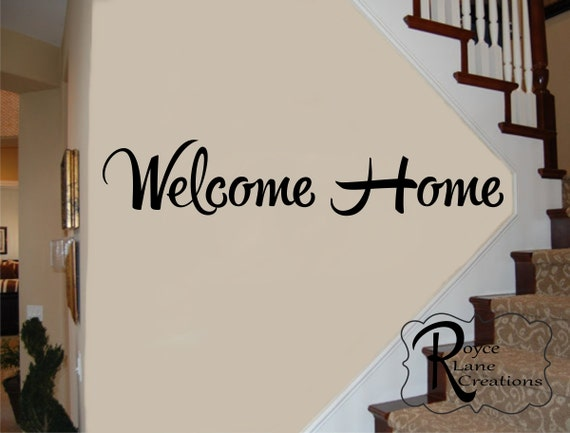 Welcome sign welcome decal welcome home vinyl wall decal for Welcoming baby home decorations