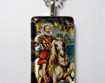Royal guard horse pendant and chain - HGP02-014
