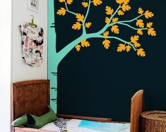 Large Tree Wall Decal - Nursery Wall Decoration - Tree Wall Sticker - Corner Tree decal - Photo hanging tree wall decals  K016