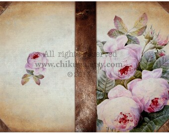 ROSEs - Printable Download Digital Collage Sheet Art Book Cover Paper Craft Scrapbook