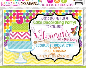 327: DIY - Cake Decorating Party Invitation Or Thank You Card