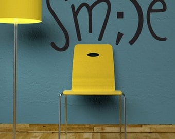 Smile wall decal home office decor
