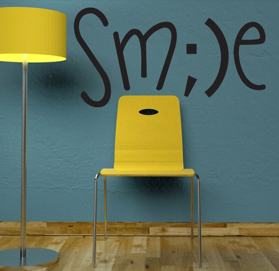 Items Similar To Smile Wall Decal Home Office Decor On Etsy