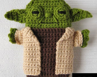 PDF PATTERN -Yoda - Star Wars - iPhone 5 and 6 crochet case (cozy, sleeve, cover)