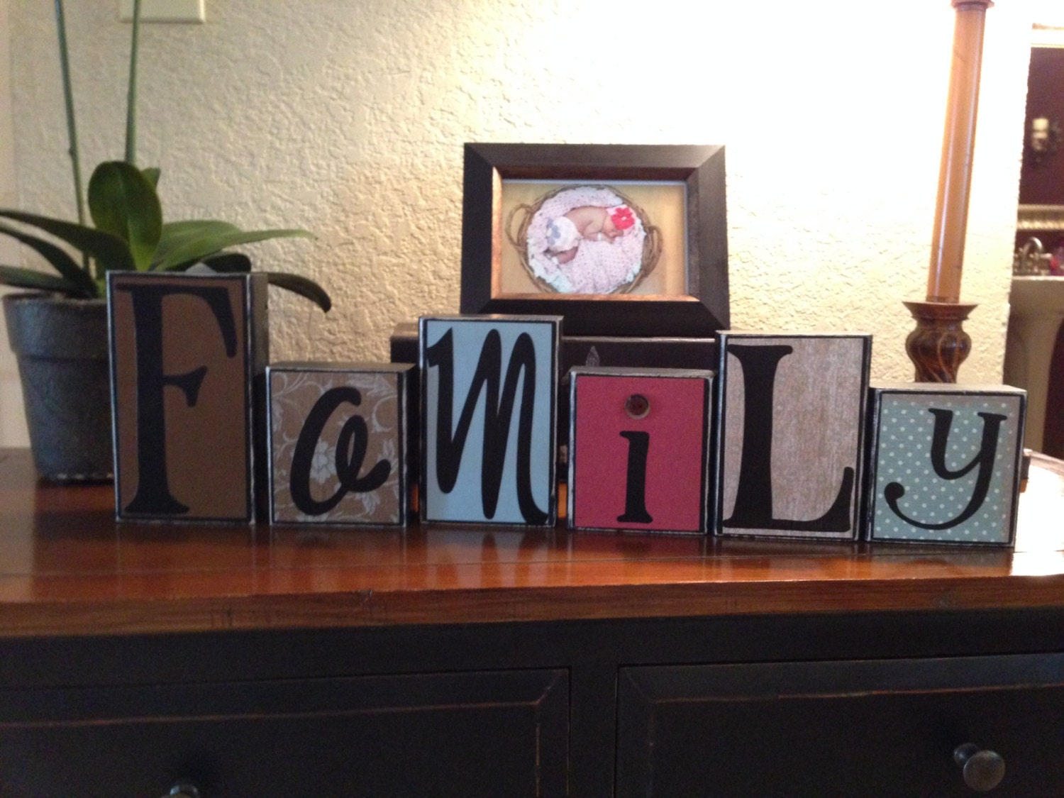 Https Www Etsy Com Listing 169487757 Decorative Block Letters Home Decor Wood