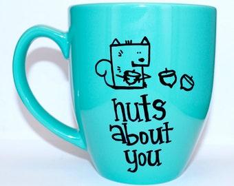 Hand Drawn Nuts About You Mug (Customizable)