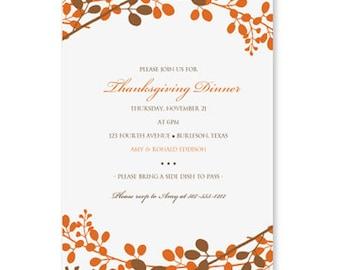 Thanksgiving dinner invitation template download for Thanksgiving invitation templates free word