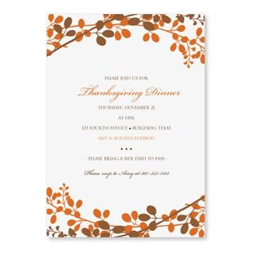 Thanksgiving Invitation Designs: Thanksgiving invitation new year ...