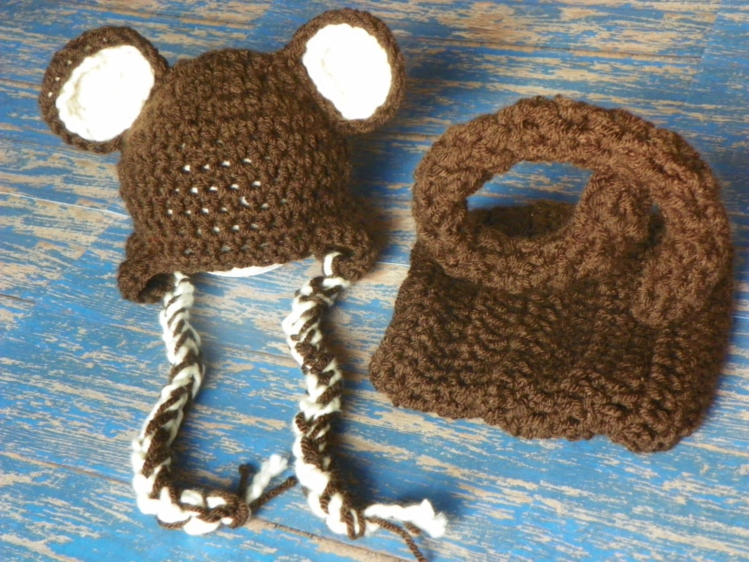 Free Crochet Pattern Monkey Diaper Cover : Monkey crochet hat and diaper cover for by willowbeanboutique