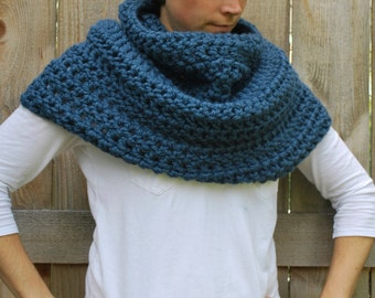 Infinity Cowl - Oversized Chunky Cowl - Crochet Cowl Poncho - Caplet - Infinity Scarf - Knit Cowl