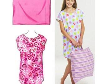 Sewing Pattern - Girls Pattern, Sleep Shirt Pattern, Pillowcase Pattern, Kwik Sew #K3551