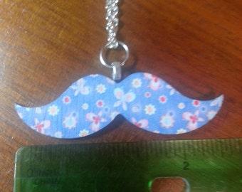Mustache Pendant Necklace.