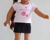 """Black Mini-Skirt for 18"""" American Girl Dolls"""