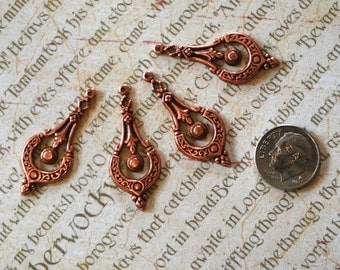Rose Gold Victorian Drops (4)