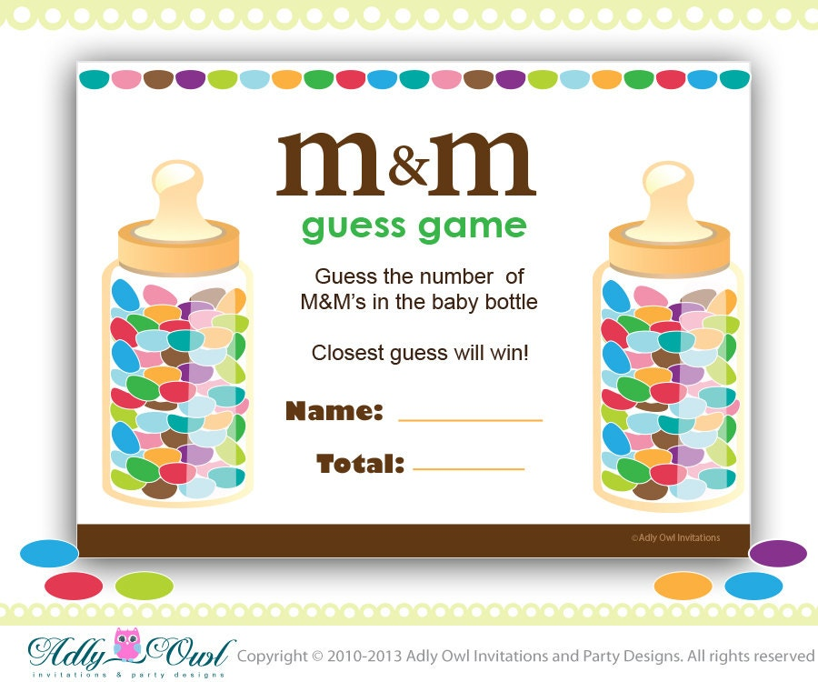 Baby Girl Showers Games ~ M s baby shower game printable fun games