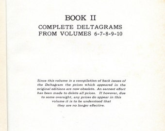 The Deltagram Book  2; a reprint of the Deltagram magazine Volumes 6 through 10: 1936 - 1941
