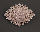 SALE Diamond Crystal Rhinestone Brooch for DIY Wedding & Crafts