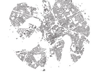 Art Map of Chester's City Buildings - 42cm x 29.7mm