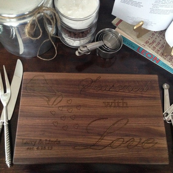 Personalized Seasoned with Love Cutting Board Seasoned with Love Cutting