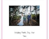 Printable/Editable Wedding Day Template - Detailed Version PURPLE