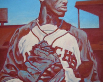 Dont Look Back, Satchel Paige, limited edition art print artwork 8&1/2 x 11   #44/100