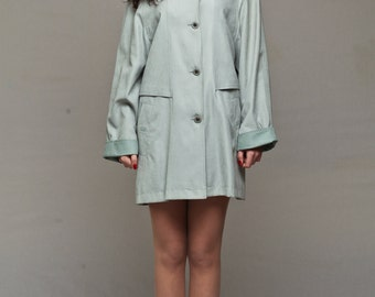 Grey womens parka / Womens short jacket / Waterproof jacket / Womens short raincoat