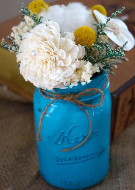 Sola flower centerpieces wedding centerpiece mason jar