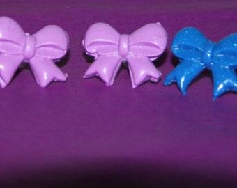 Polymer Clay Bow Earrings, Kawaii Earrings, stud earrings