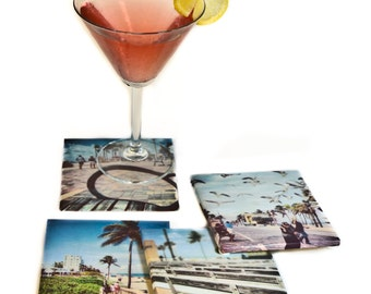 "Beach Coasters, Set ""The Boardwalk"""