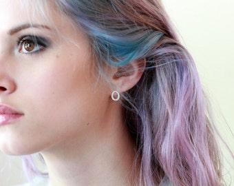 Tiny Teardrop Earrings, Sterling Silver, Silver Teardrops, Sparkle Earrings, Brushed Metal, Sterling Silver Post, Petite Jewelry
