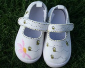 Bumble Bee Shoes, hand painted canvas, girls toddler