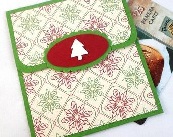Christmas Gift Card Holder - Christmas Money Card - Holiday Cash Card - Hand Crafted Christmas Card