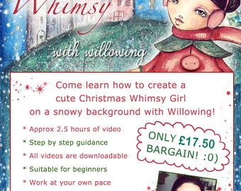 A Christmas Whimsy -  Self Study Mini Class - Online Download (without DVD)