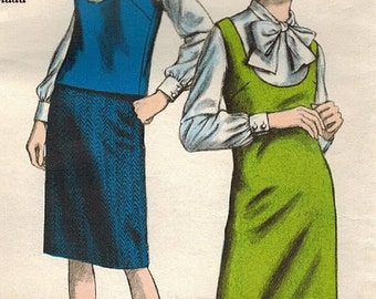 1960s Vogue 6326 UNCUT Vintage Sewing Pattern Misses Jumper, Pullover Top, Skirt, and Blouse Size 14 Bust 34