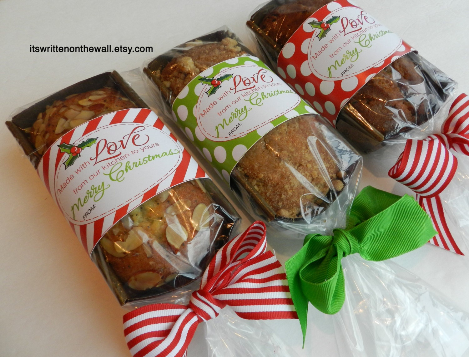 Christmas Food Gift Tags / Christmas by ItsWrittenOnTheWall