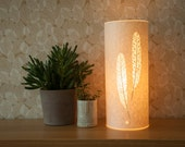 Small Feather Table Lamp