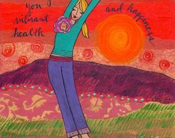 Print : Wishing you Vibrant Health
