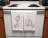 Your Child's Drawing made into embroidered tea towels.