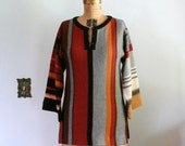 1970s Sweater // Striped Tunic Sweater