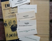 Vintage 1950's English Vocabulary Cards Set