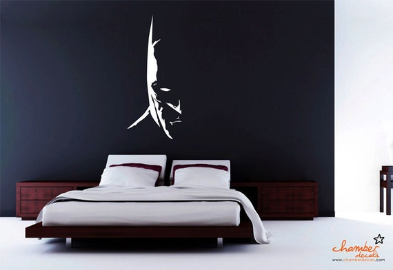 Items similar to dark knight batman wall decal on etsy for Batman wall mural decal