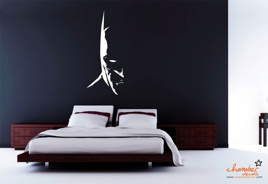 Dark knight batman wall decal for Dark knight mural