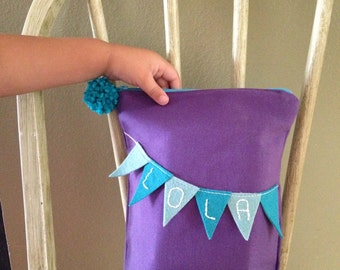 Personalized Bunting Zippered Bag