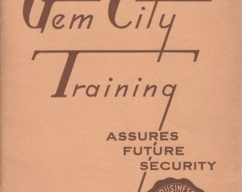 Vintage 1951 Gem City Business College Quincy IL Annual Yearbook
