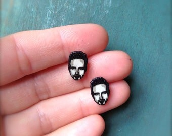 Breaking Bad Jesse Pinkman Heisenberg Post Earrings cartoon illustration Walter White