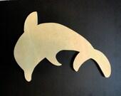 Dolphin Mosaic Wood Base MDF Board 15 in/ Ocean/ Beach/ Craft Supplies