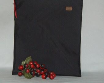 Gallon Size Bag - Black Nylon - Reusable - Zippered Bag - Zipper Closure