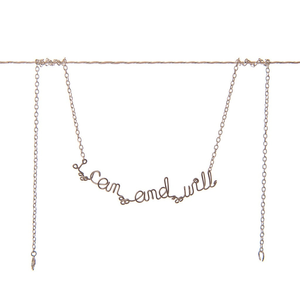 I Can And Will Necklace - Motivational Jewelry - She Believed She Could So She Did