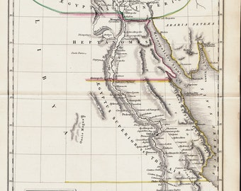 1825 Antique map of the ANCIENT EGYPT,  Original antique