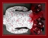 VALENTINE TURTLENECK TULLE Dress sz 3 - 4 skulls hearts flowers red black handmade ooak